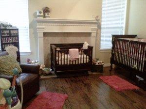 girl, nursery, baby, decor, home
