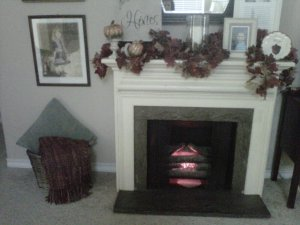 blanket, basket, decorative, mantel, seasonal decor, Fall