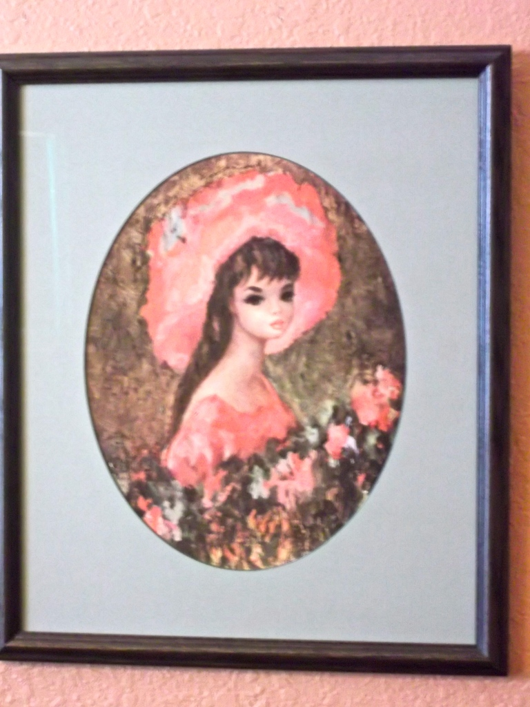 vintage art, custom framed art, home decor