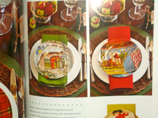decorative plates, home, decor, place settings, holidays, Christmas, Southern Living