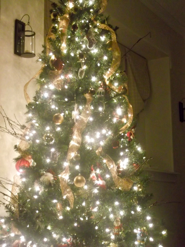 tree, artificial, prelit, holiday, Christmas, decor
