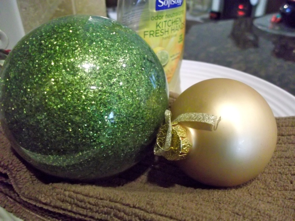 ornaments, balls, cake stand, kitchen, decor, holidays, Christmas