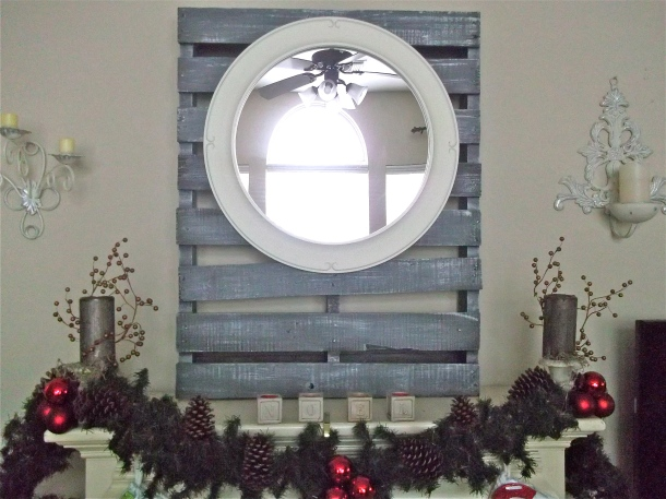 pallet project, home decor, mantel decor, tutorial, faux driftwood
