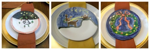 table, dining room, place settings, decor, holidays, Christmas, decorative plates, charger plates