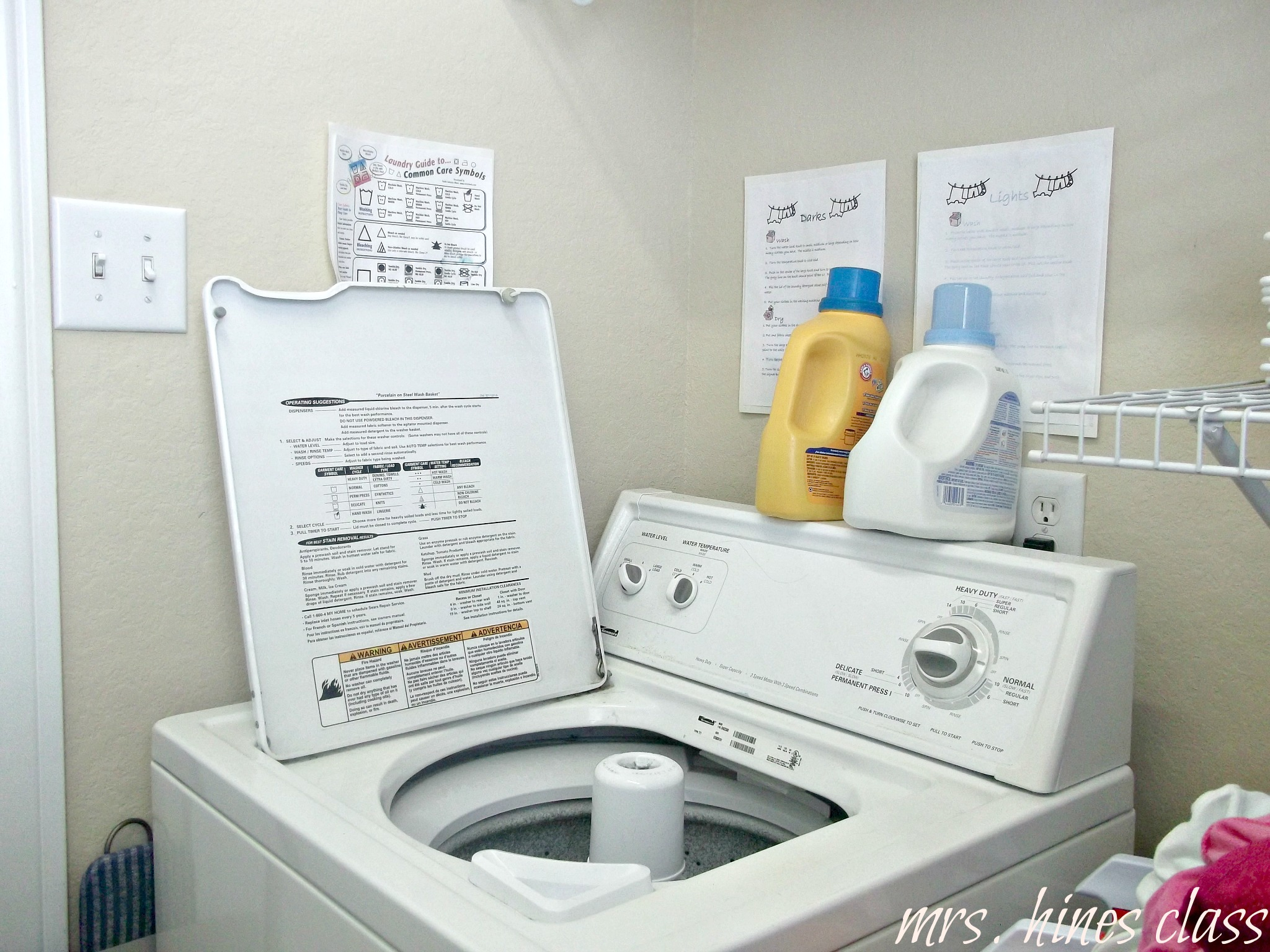 How to Clean Your Washing Machine: Mrs. Hines' Class