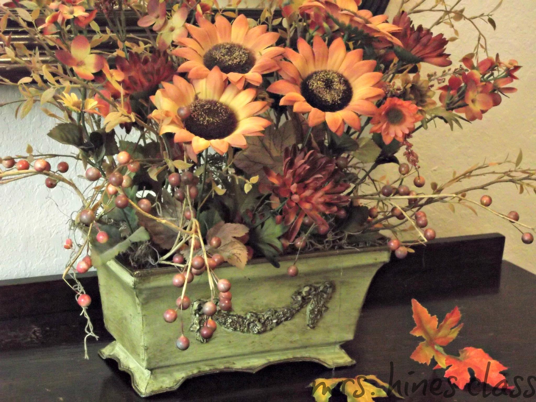 fall, home decor, flowers, autumn, seasonal decor, foyer, entry