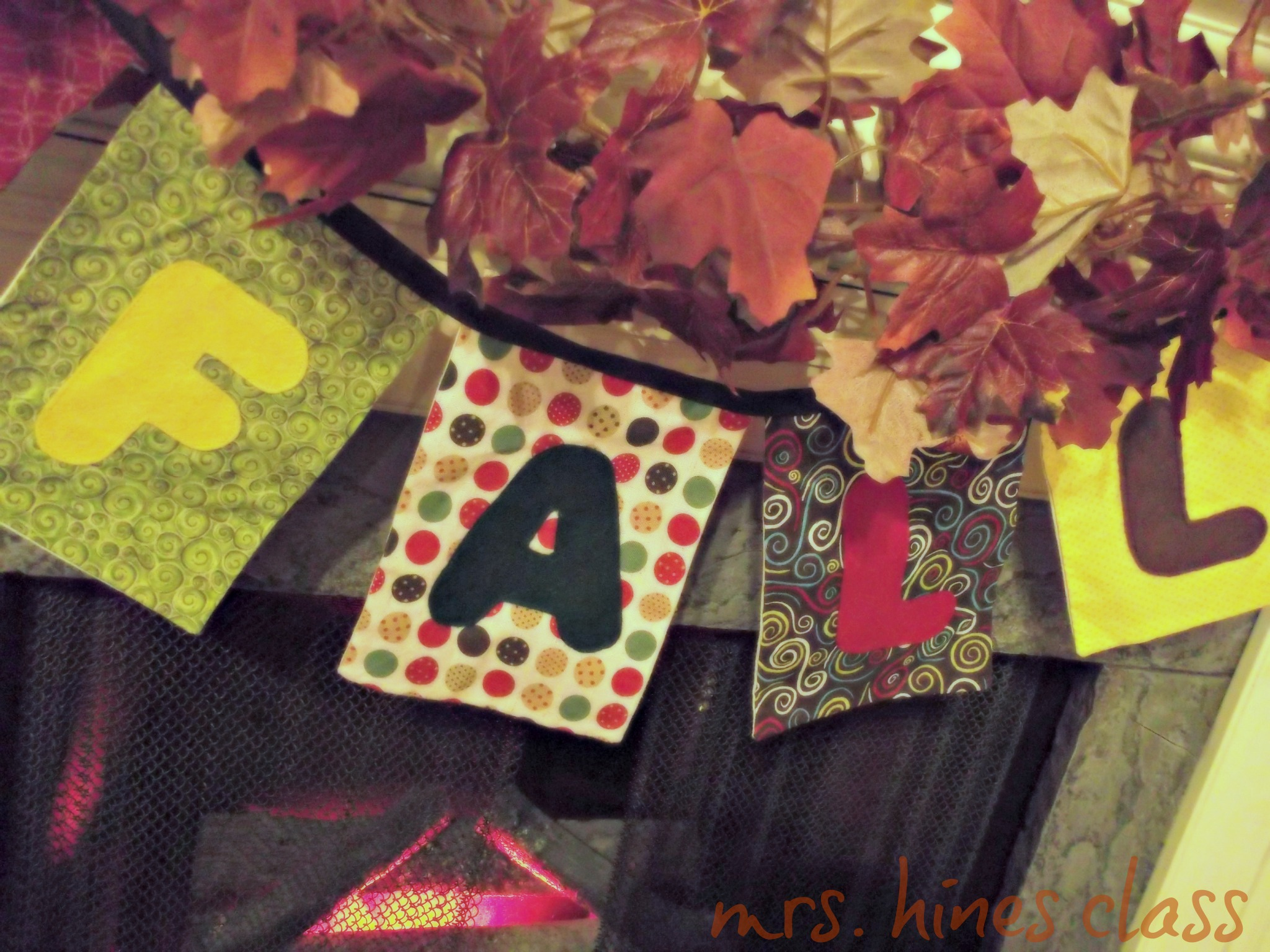 fall bunting, leaf garland, mantel, home decor, fall decor, fireplace